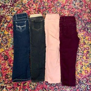 Jordache jeans bundle of 4. Size 4t